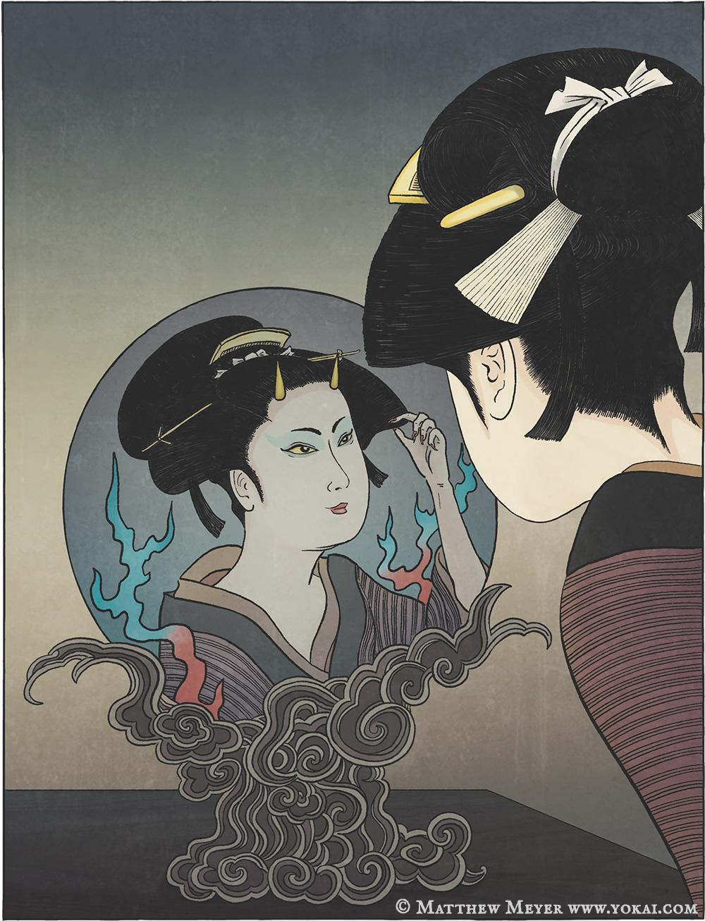 Raiju Yokai – By kanigaro, posted 6 years ago digital artist.